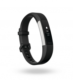 3-quarter view product render of Alta HR in black band.