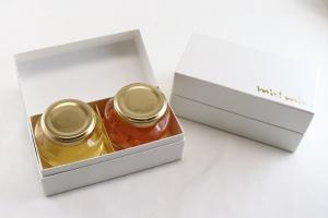 ハート型蜂蜜2個セット 箱と中身見せ